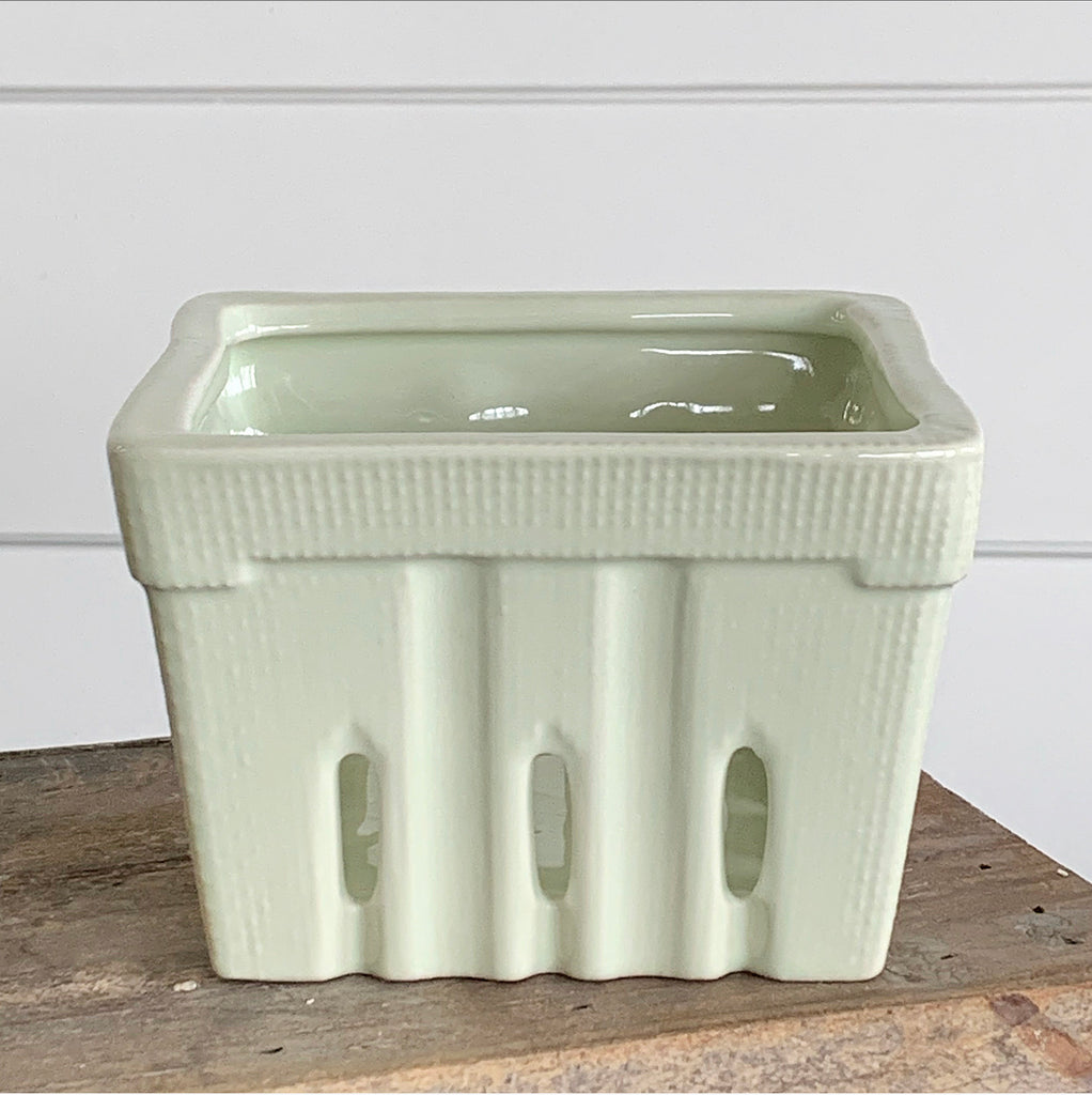 Ceramic Berry Basket - 4 Soft Neutral Colors