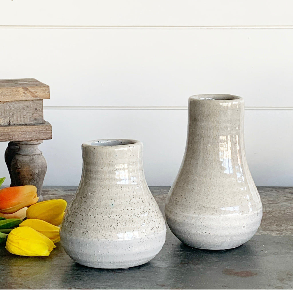 Gray Two-Tone Vases