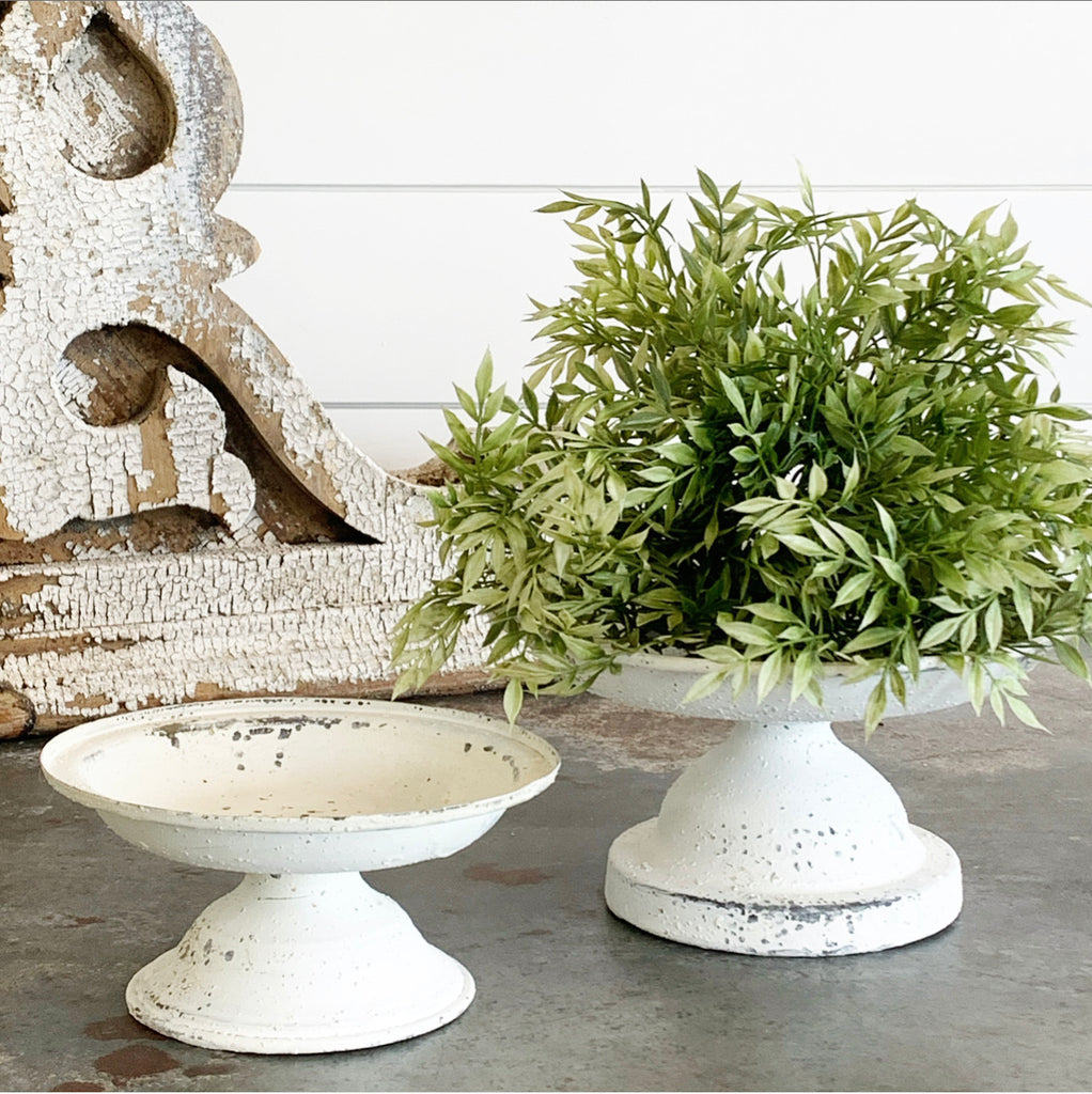 Cream Metal Pedestal - 2 sizes