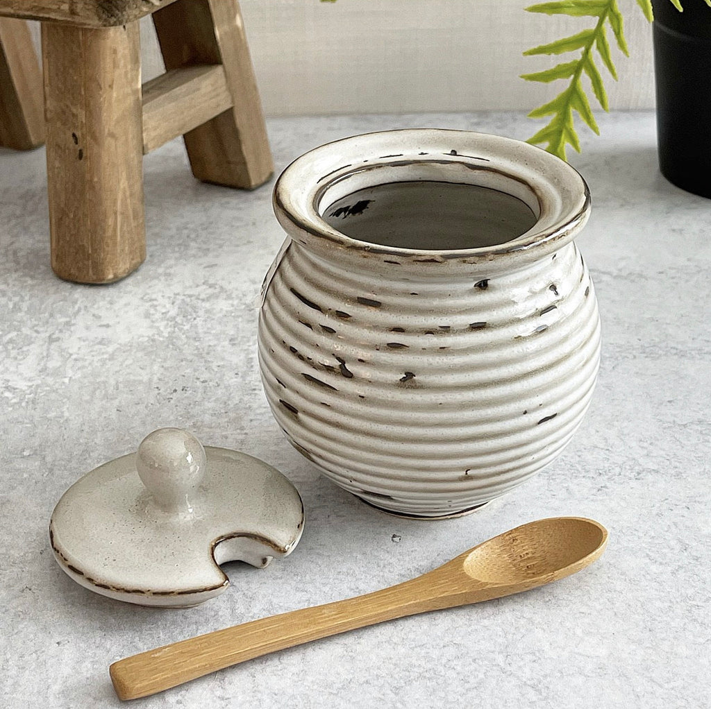 Stoneware Honey Pot - Jam Jar