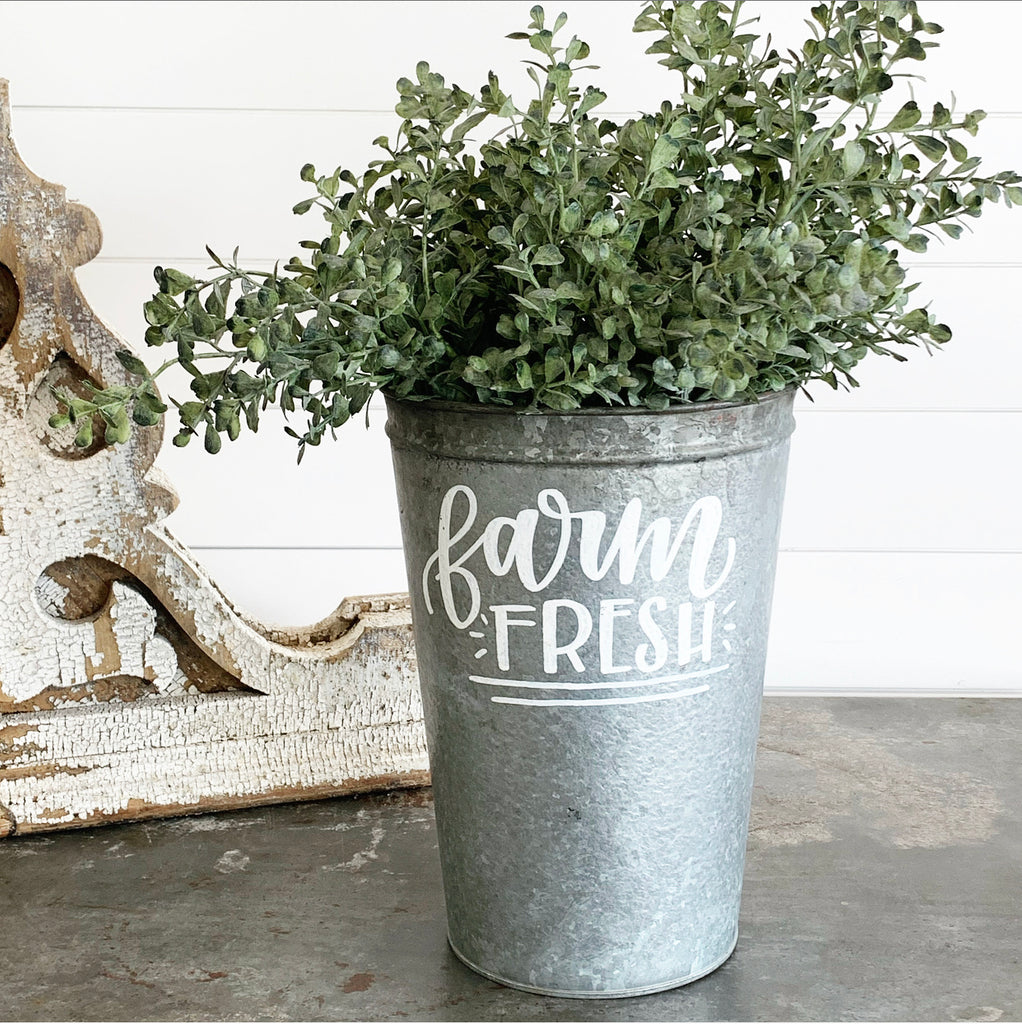 Vintage Farm Fresh Bucket #4 LAST CHANCE