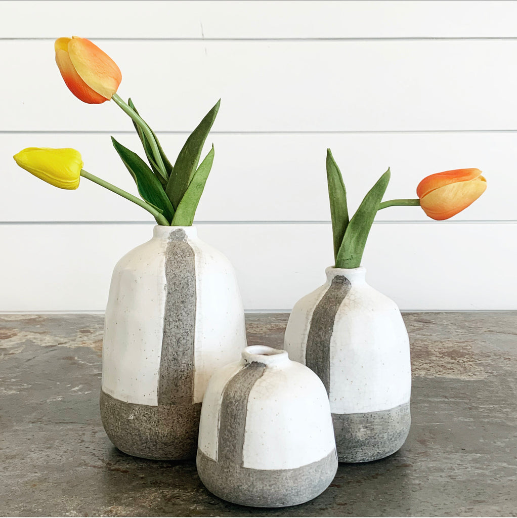 Modern Striped Vases