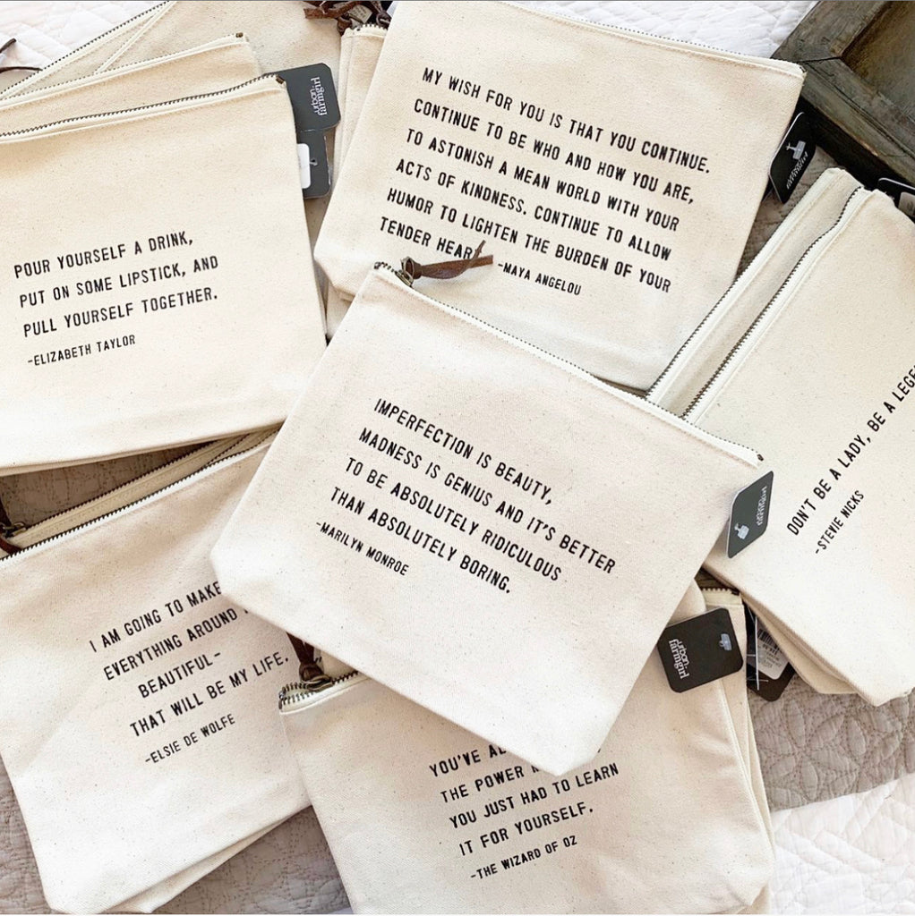 Quote Zip Pouches PRE-ORDER