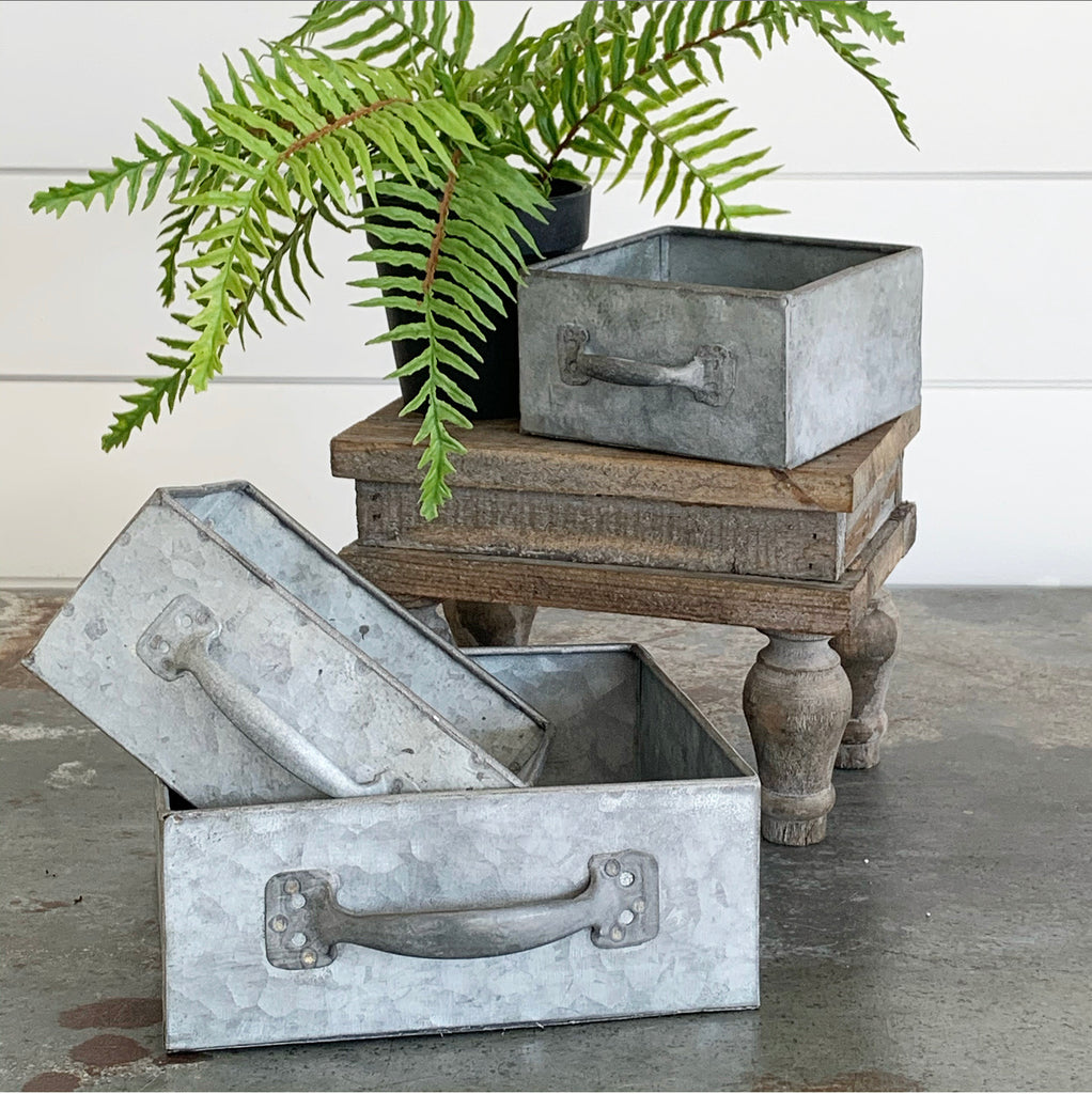 Square Metal Drawers - 3 sizes