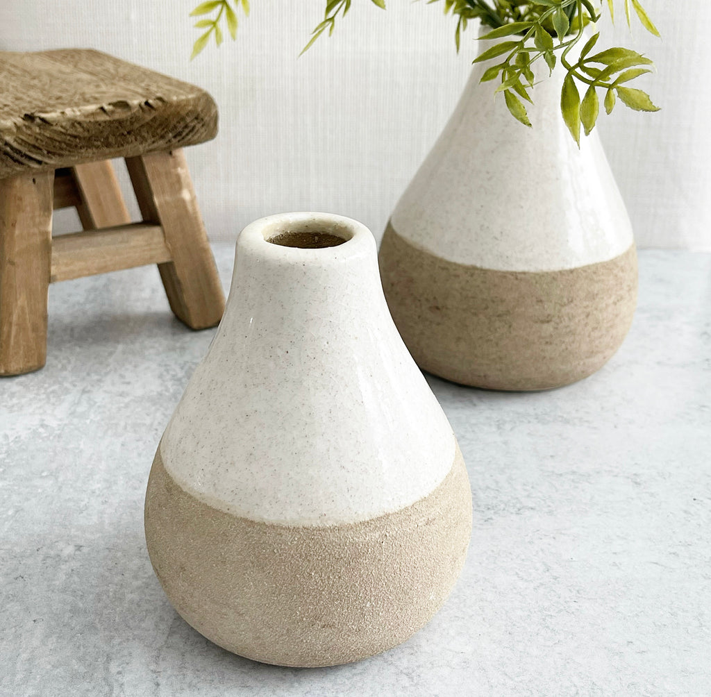 Pear Shape Sand Vases - 2 Sizes