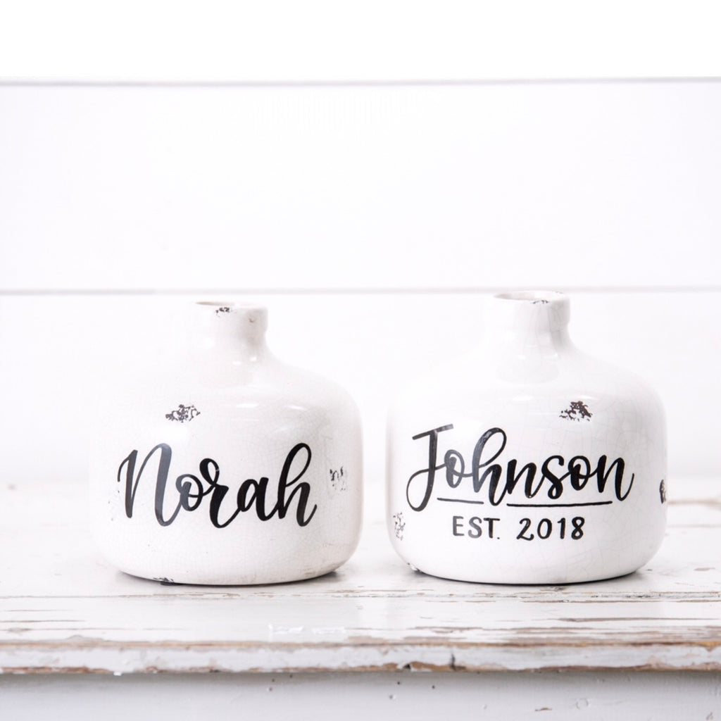 Small Personalized Vase