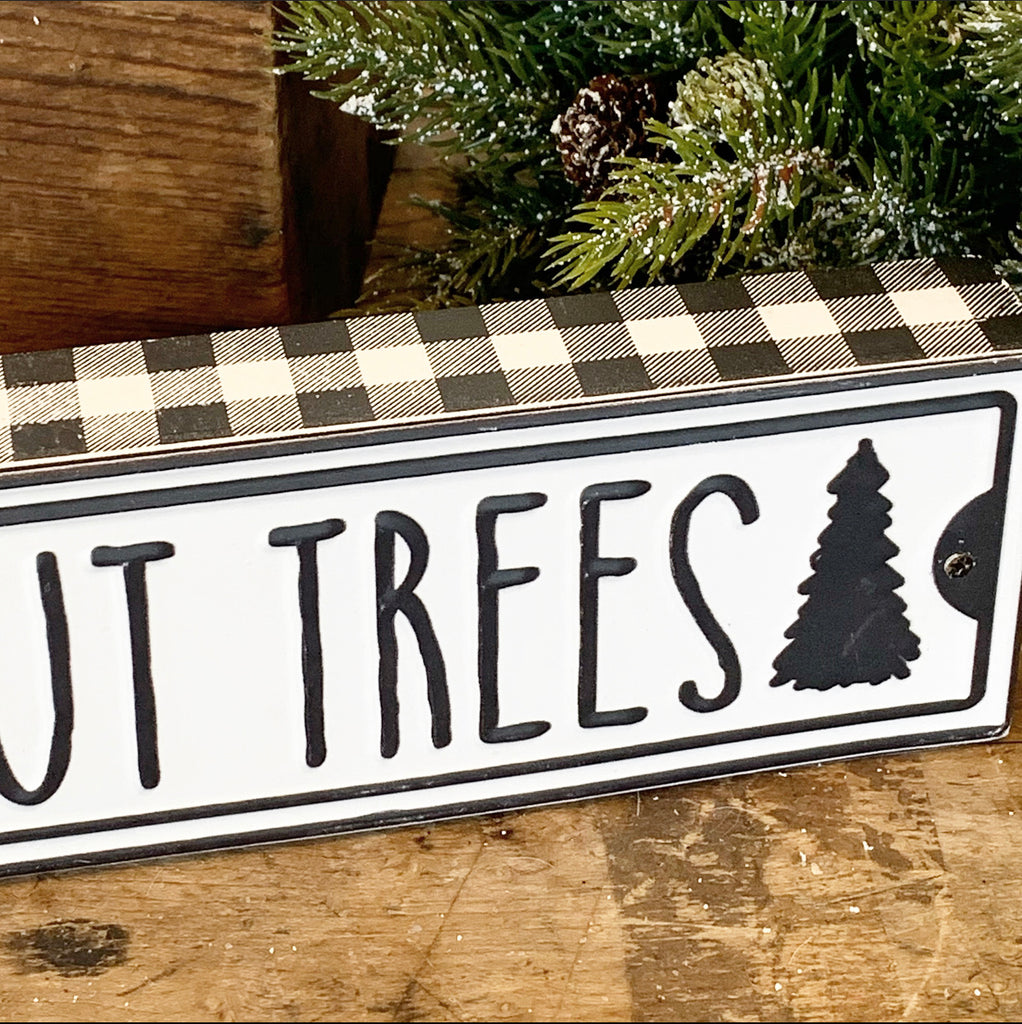 Fresh Cut Trees Sign