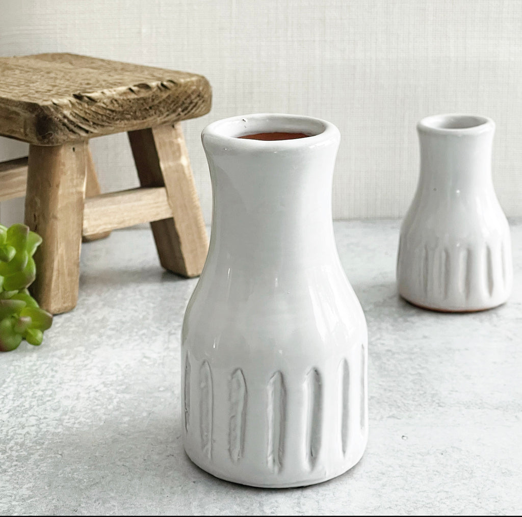 Modern White Vases - 2 Sizes