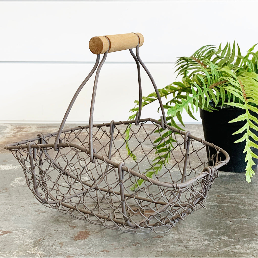 Chicken Wire Basket w/Handle