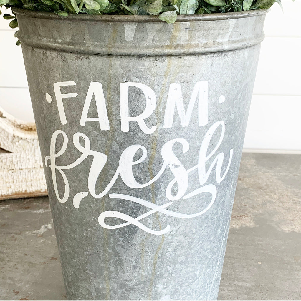 Vintage Farm Fresh Bucket #5 LAST CHANCE