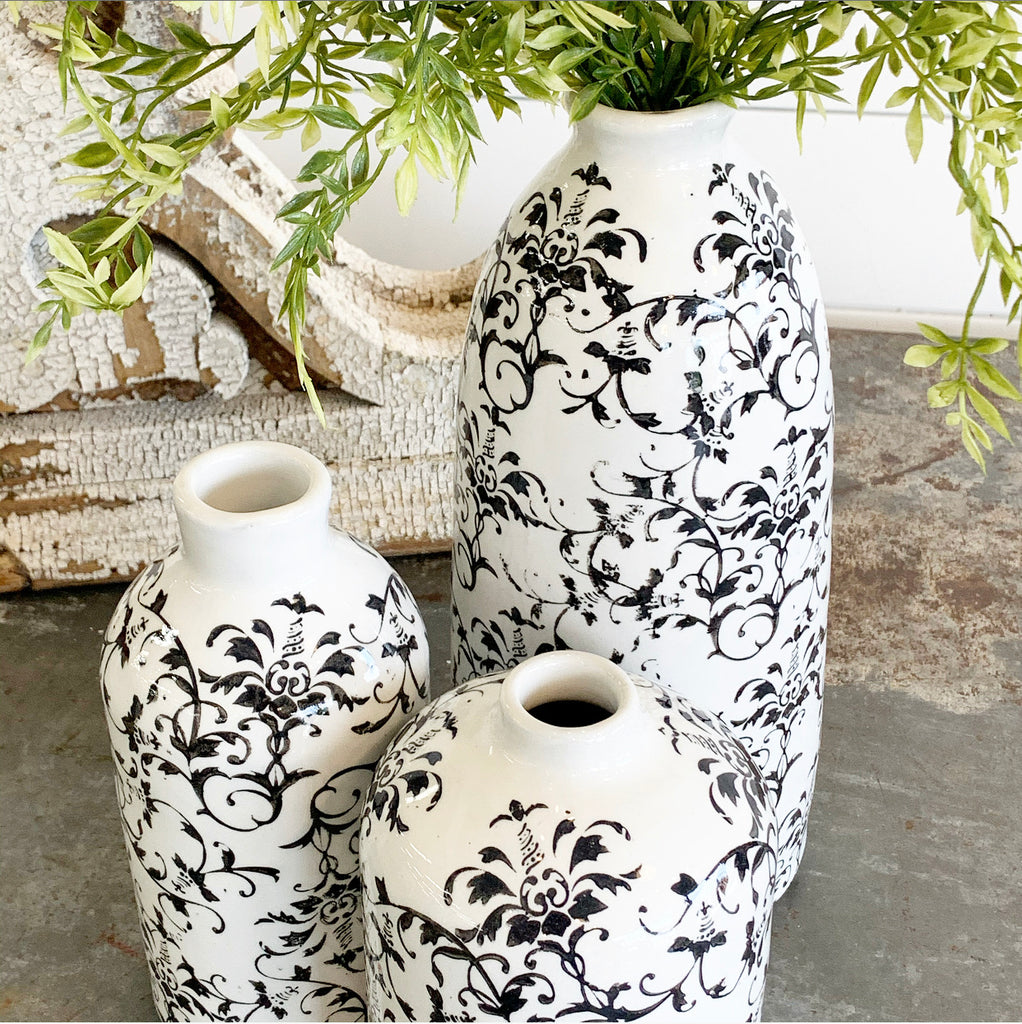 Black & White Vine Vase