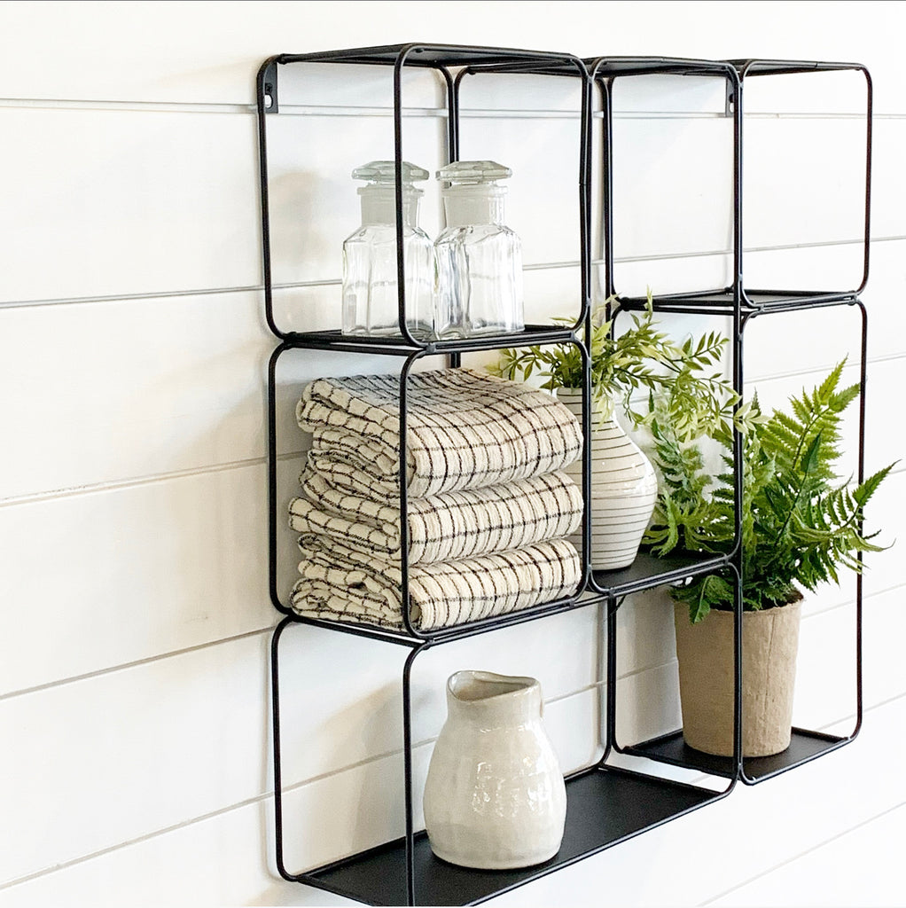 Black Square Metal Shelf - HOLIDAY SPECIAL