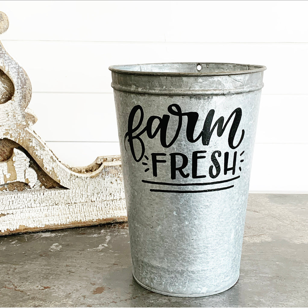 Vintage Farm Fresh Bucket #3 LAST CHANCE