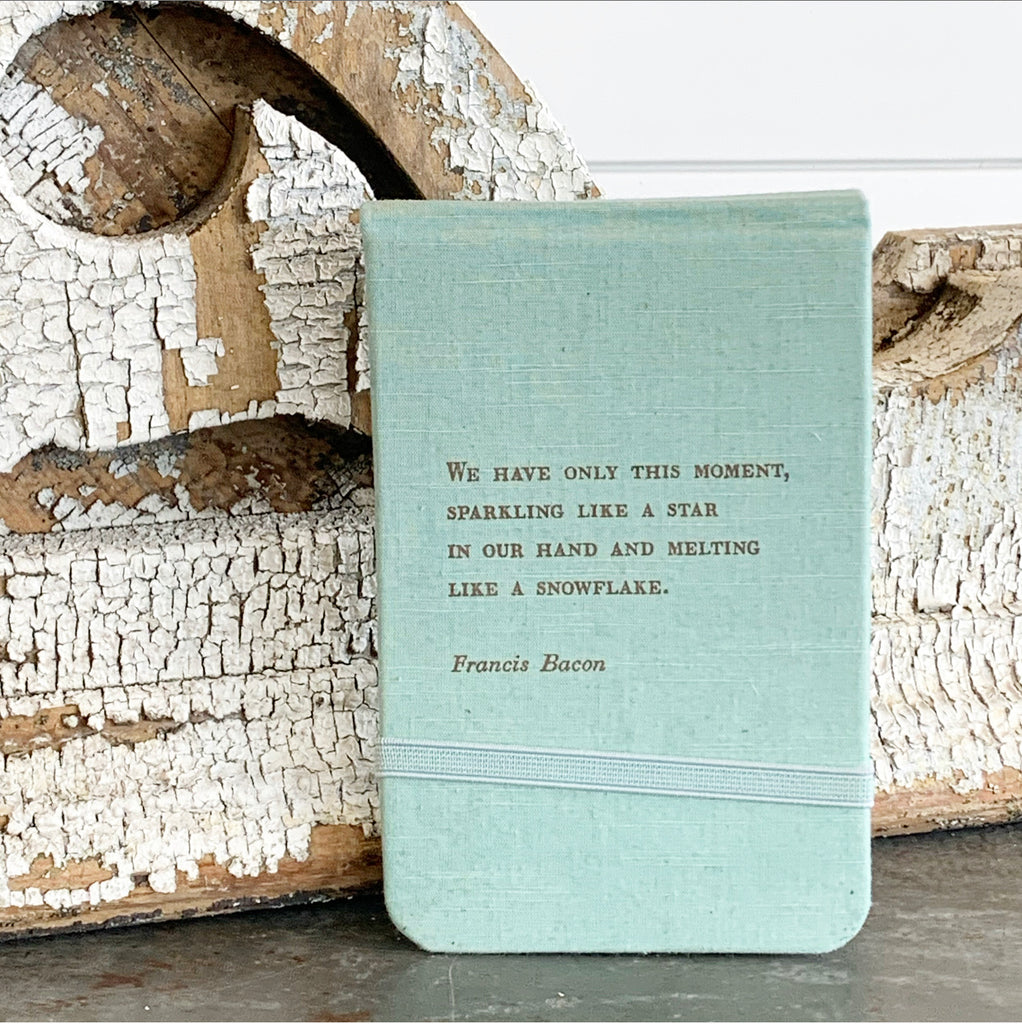 Blue Linen Small Notebook
