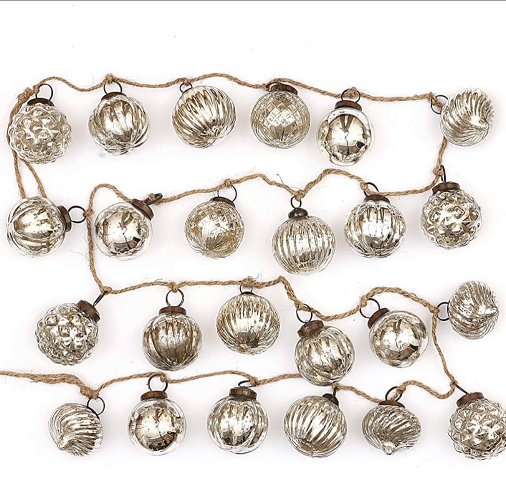 Mercury Glass Garland - Silver