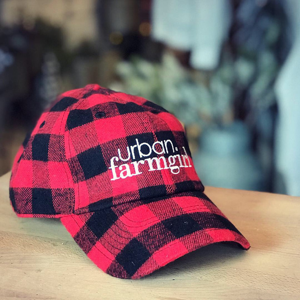 Buffalo Check Urban Farmgirl Baseball Cap