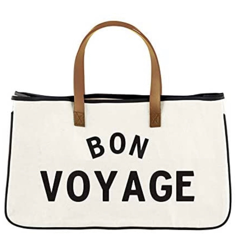 Bon Voyage Canvas Tote Bag