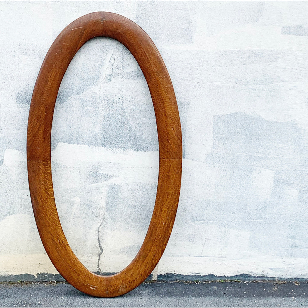 Antique Large Oval Oak Frame - 4' long