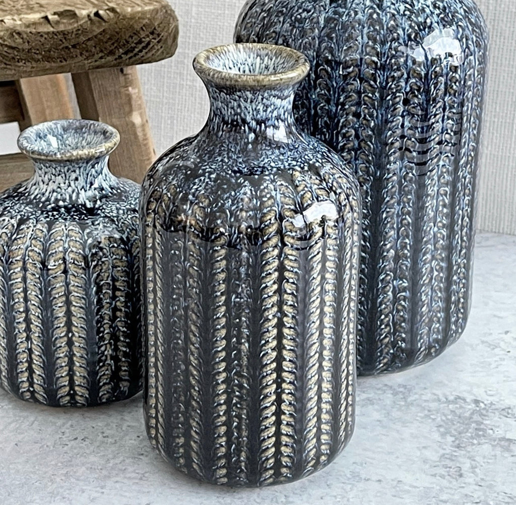 Indigo Boho Vases - 3 Sizes