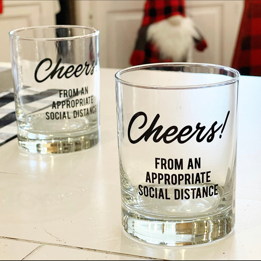Social Distancing Highball Glass