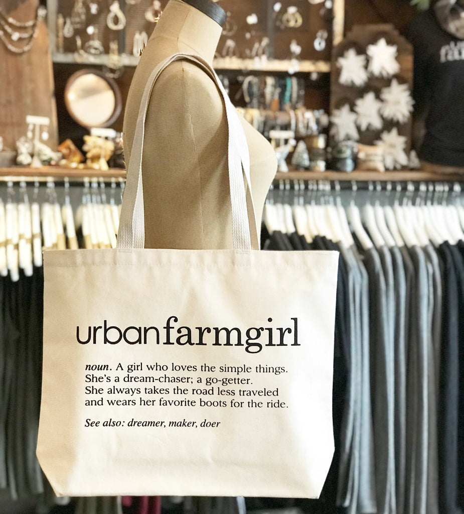 Urban Farmgirl Definition Tote Bag