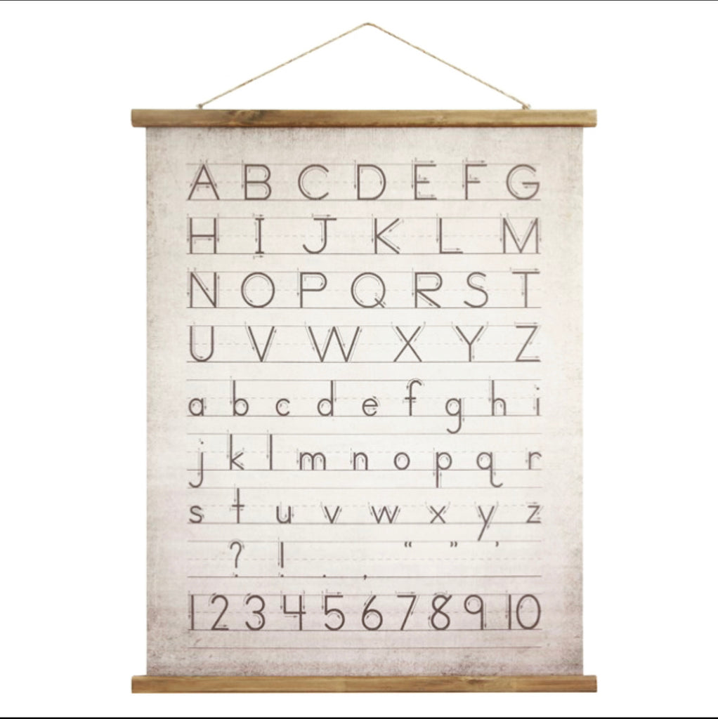 Alphabet Canvas Scroll
