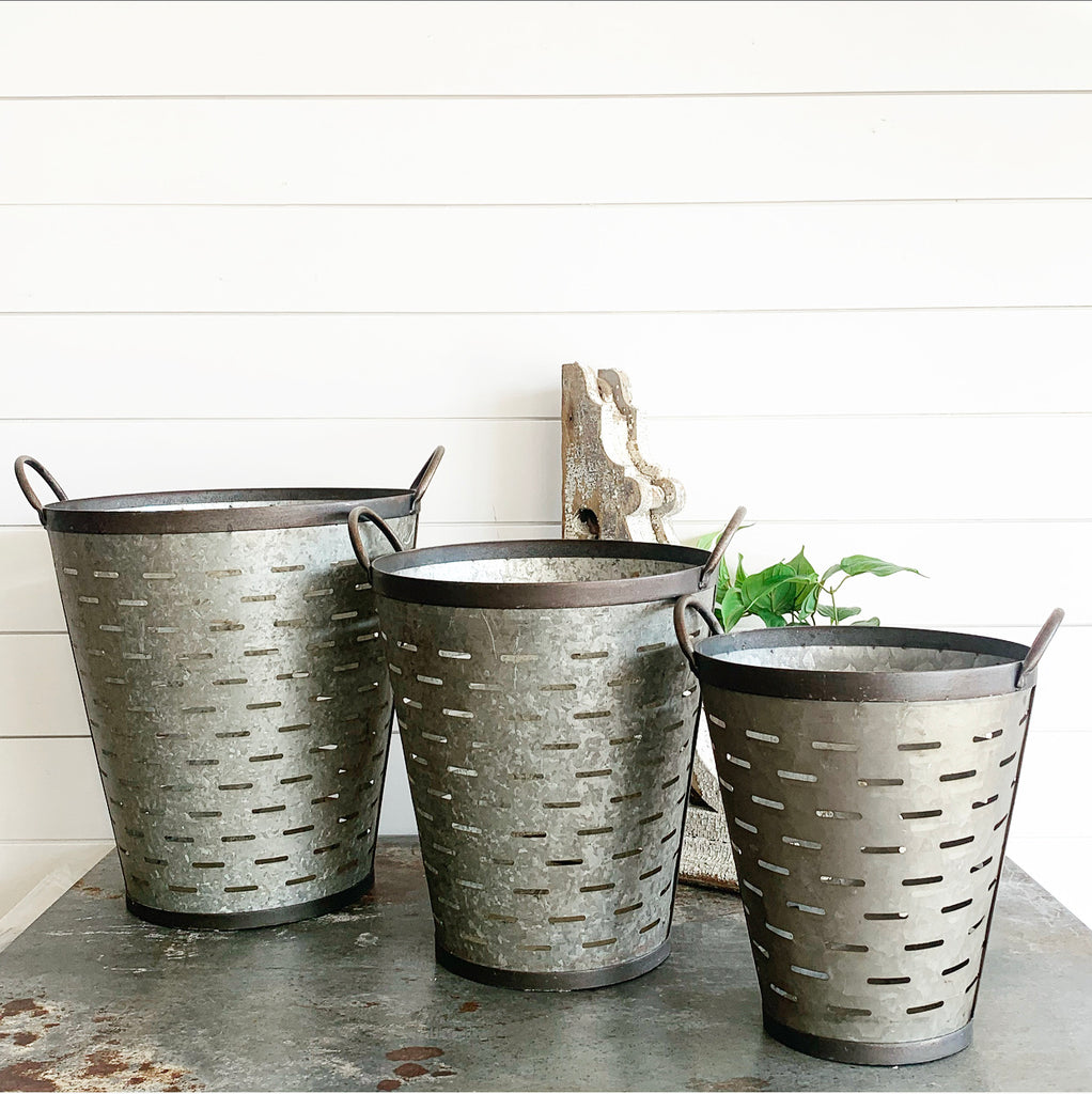 Olive Buckets - 3 sizes LAST CHANCE