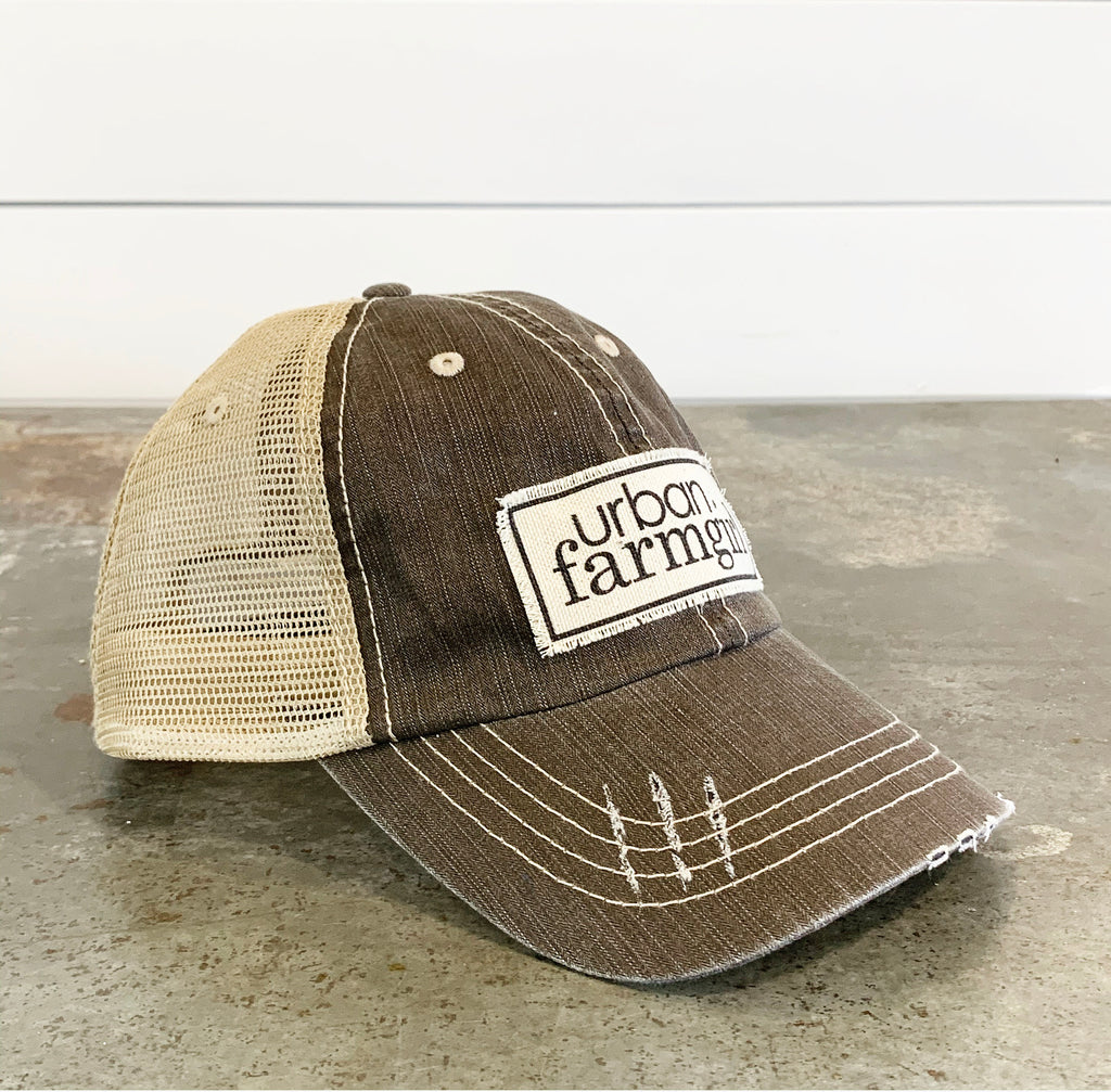 Gray Denim Urban Farmgirl Baseball Cap