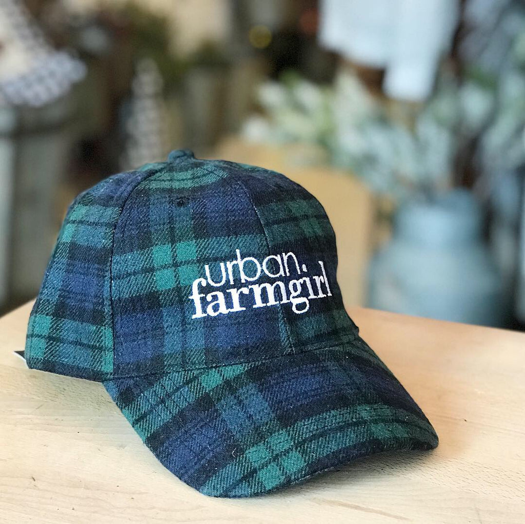 Plaid Urban Farmgirl Baseball Cap