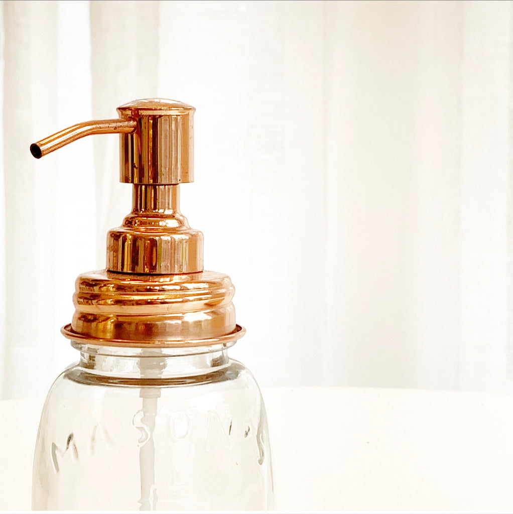 Soap Pump w/Copper Accent