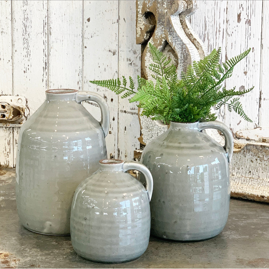 Gray Jug w/Handle