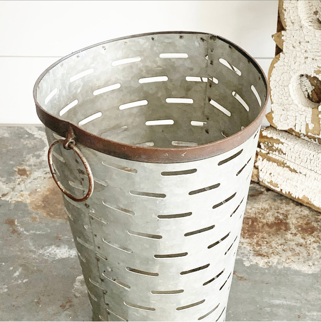 Tall Olive Buckets - 3 sizes LAST CHANCE