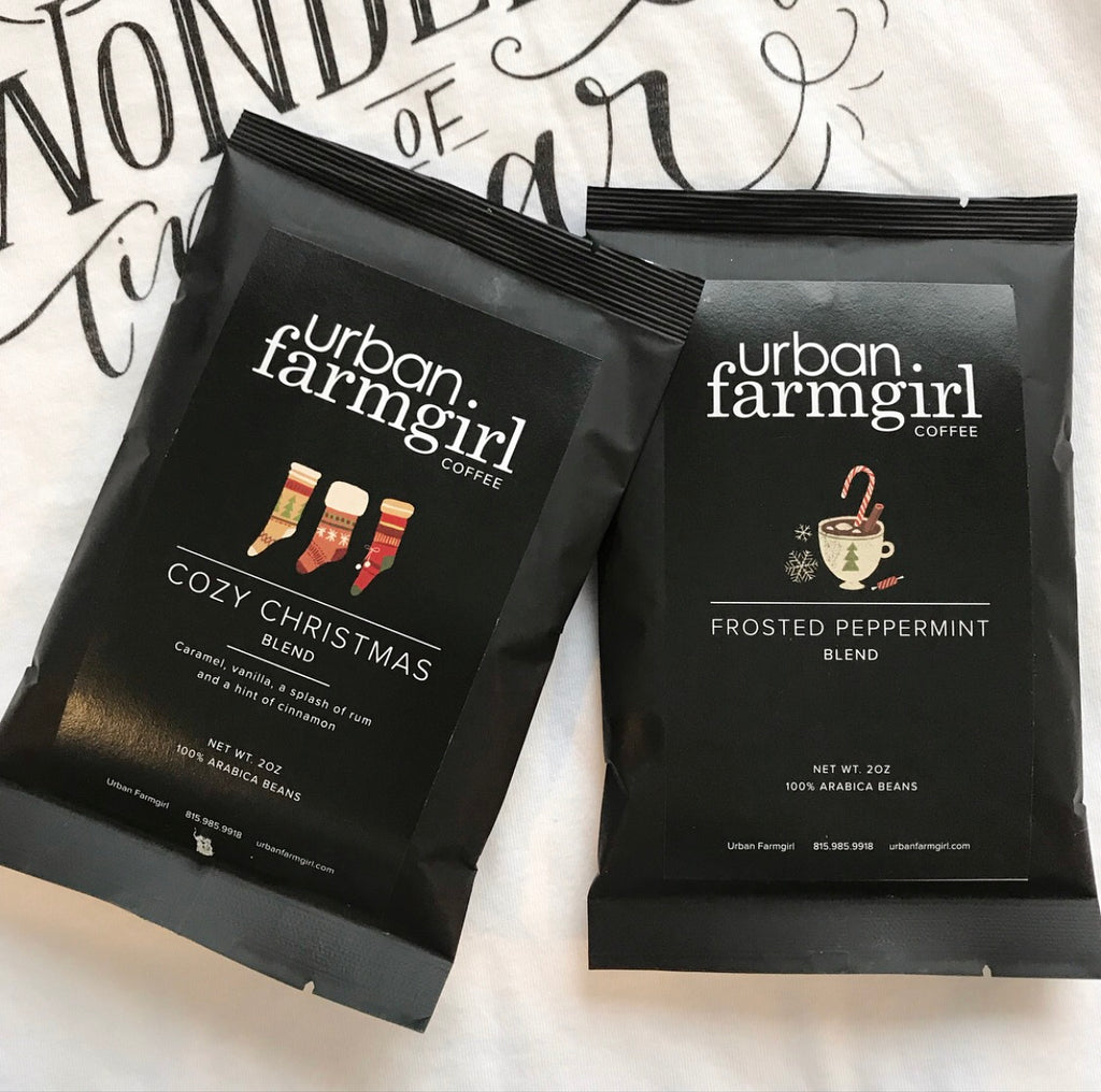 Urban Farmgirl Holiday Flavored Coffee