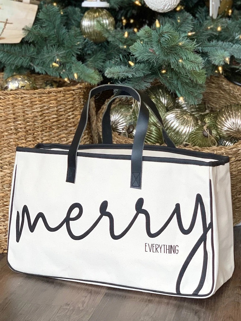 Merry Everything Canvas Tote Bag