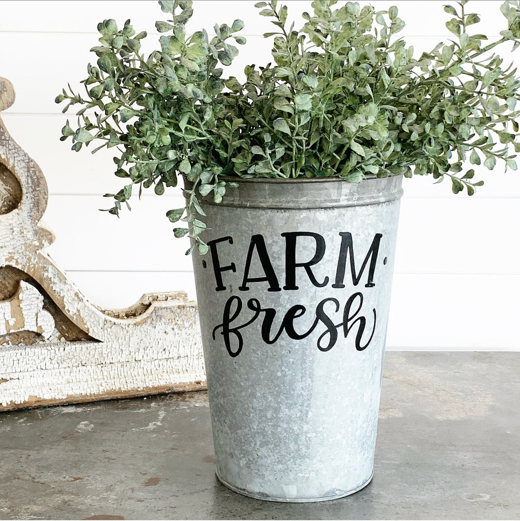 Vintage Farm Fresh Bucket #1 LAST CHANCE