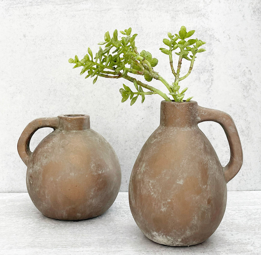 Copper Terracotta Handle Vase - 2 Sizes