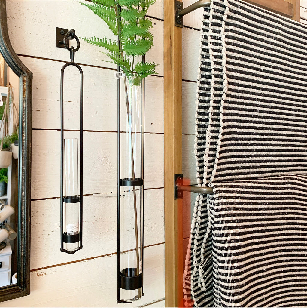 Hanging Tube Vase w/ Hook
