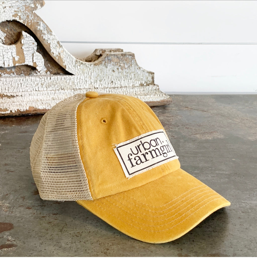 Mustard Urban Farmgirl Bastball Cap