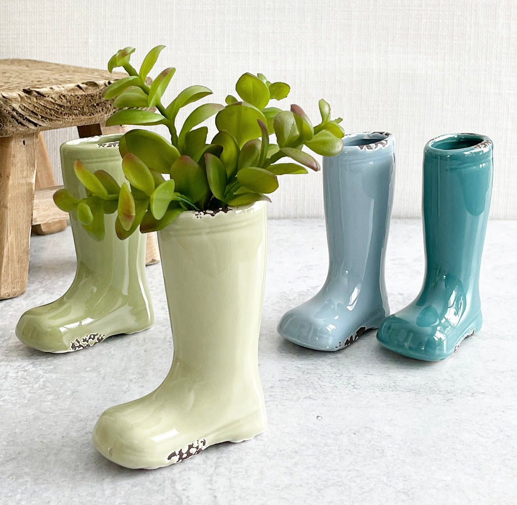 Rain Boot Vase - 4 colors