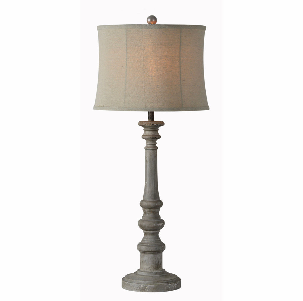Gray Spindle Table Lamp