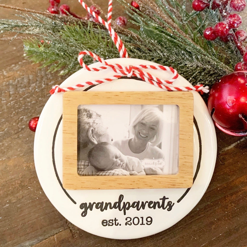 Grandparents Photo Ornament