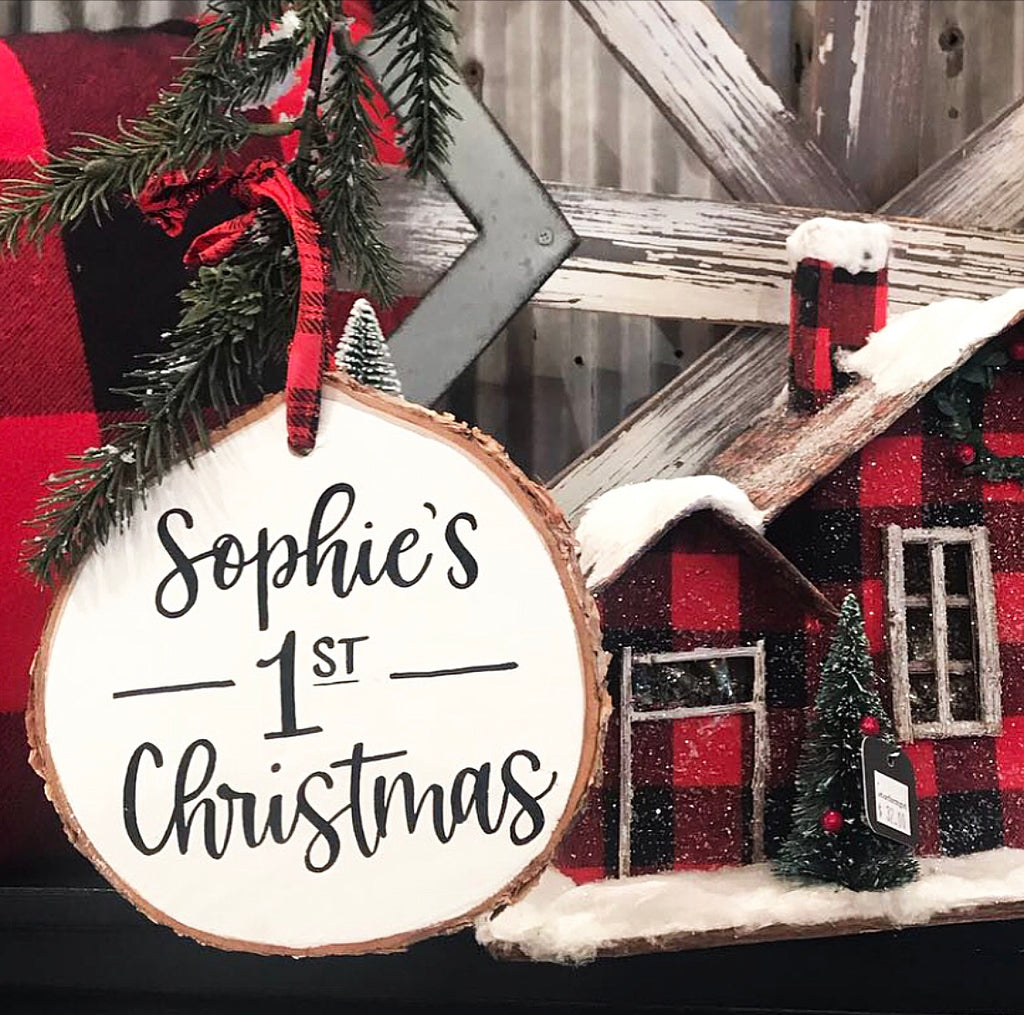Personalized Wood Slice Ornament