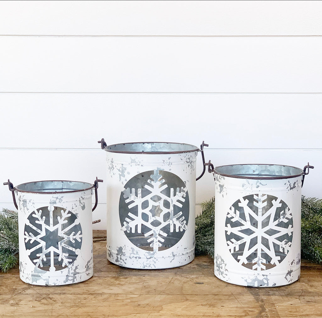 Snowflake Buckets - 3 Sizes