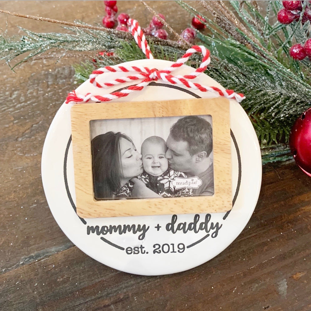 Mommy & Daddy Photo Ornament