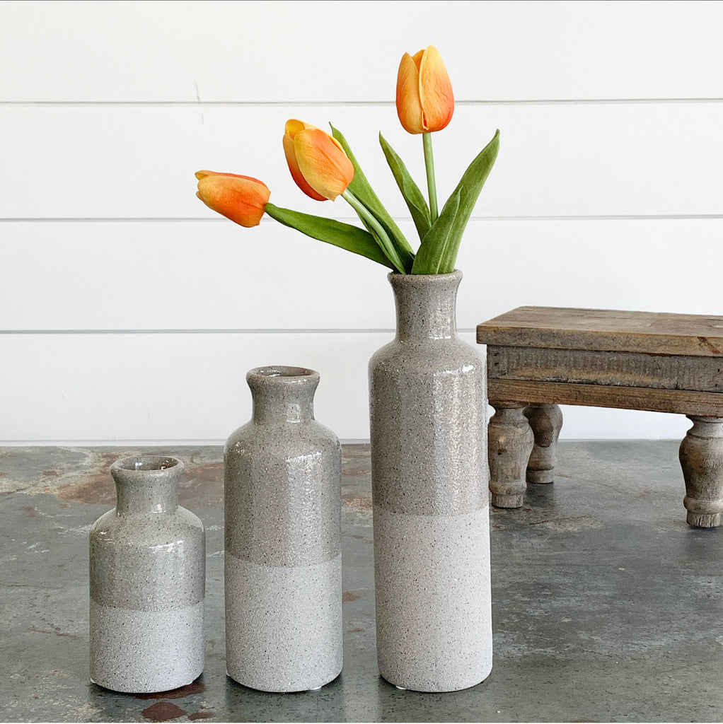 Gray Bottle Vase
