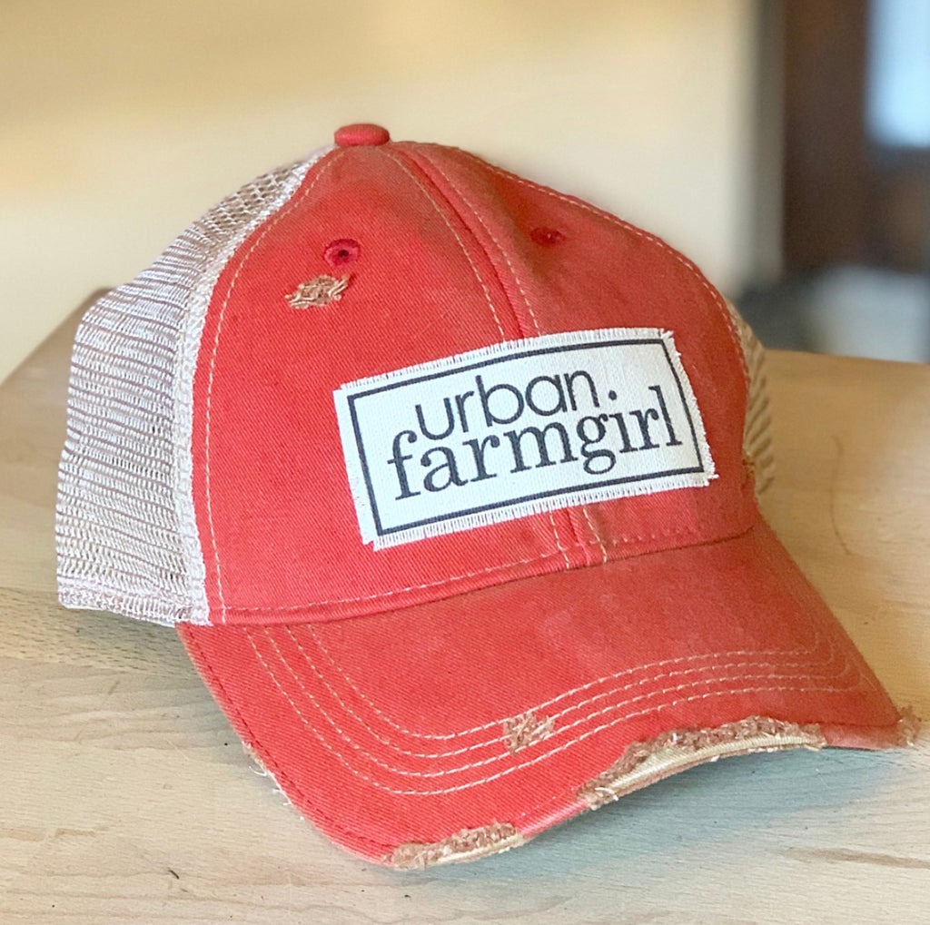 Vintage Red Urban Farmgirl Baseball Cap