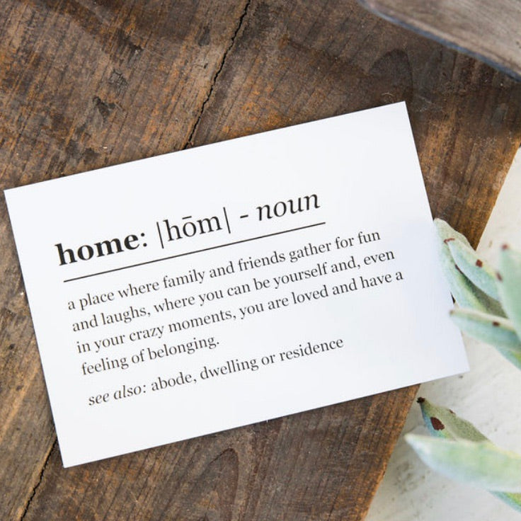 Home Definition Print