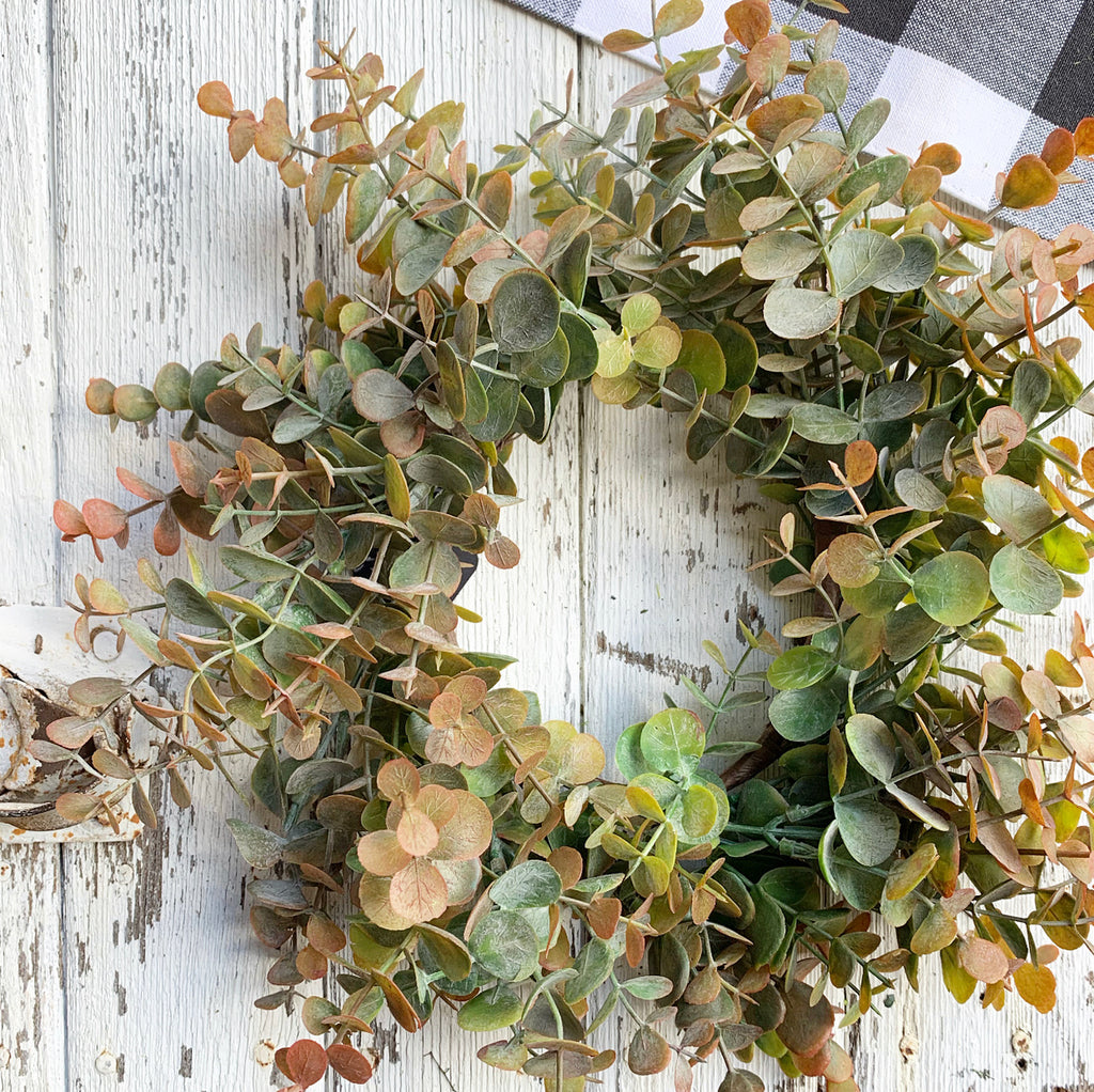 Multi-Color Eucalyptus Wreath