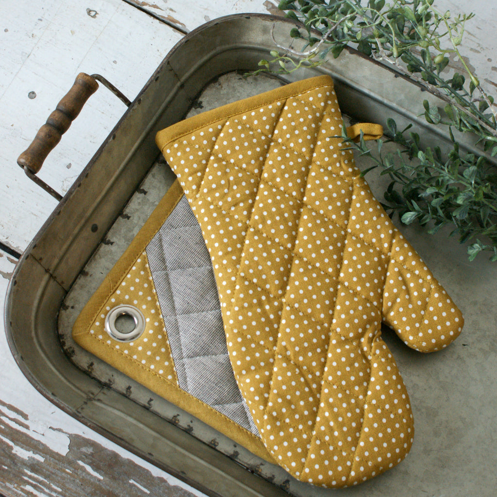 Mustard Oven Mitt & Pot Holder