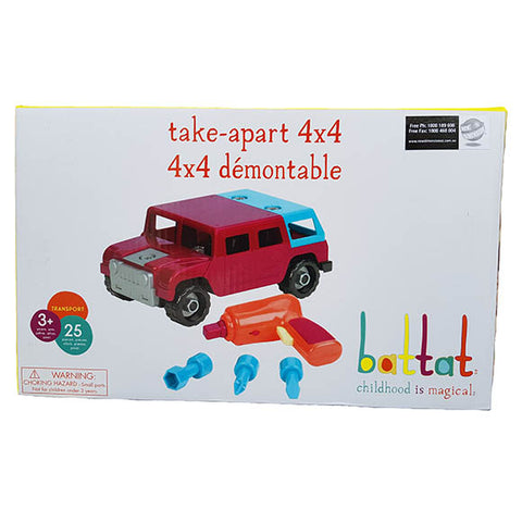 Battat - Take Apart 4 x 4 Off Road Toy Truck